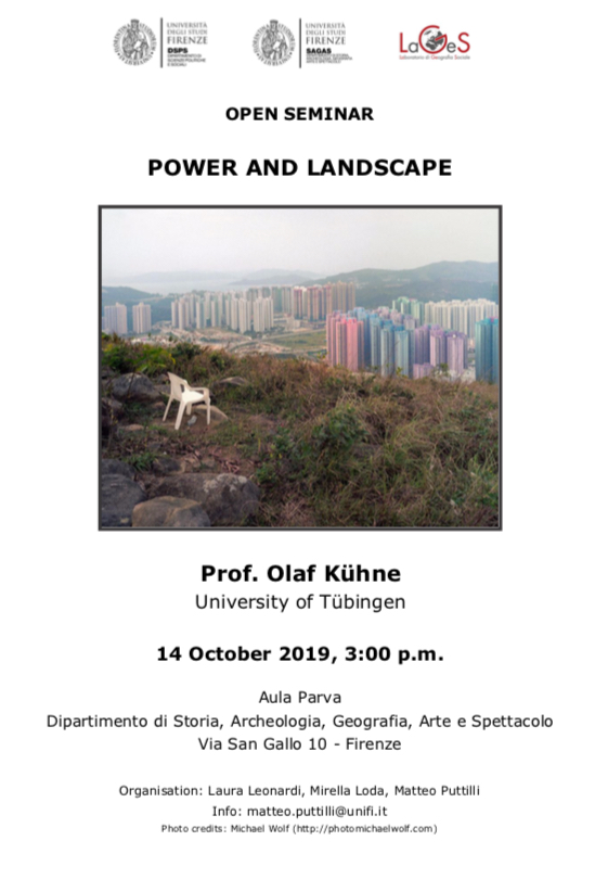 "(Italiano) Seminario ""Power and landscape"""