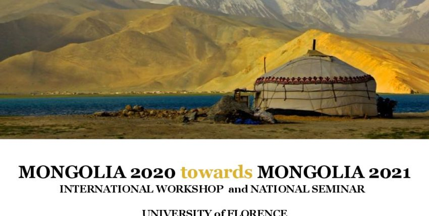 Mongolia 2020 towords Mongolia 2021. Seminar and international workshop.