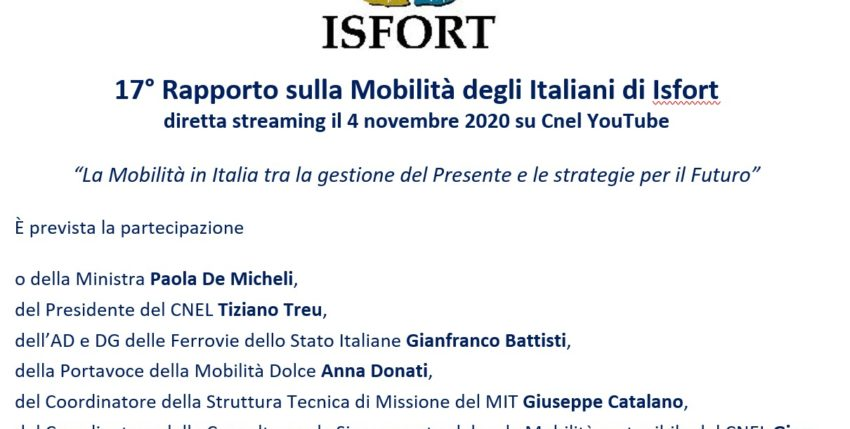 17th Isfort Report on Italians Mobility