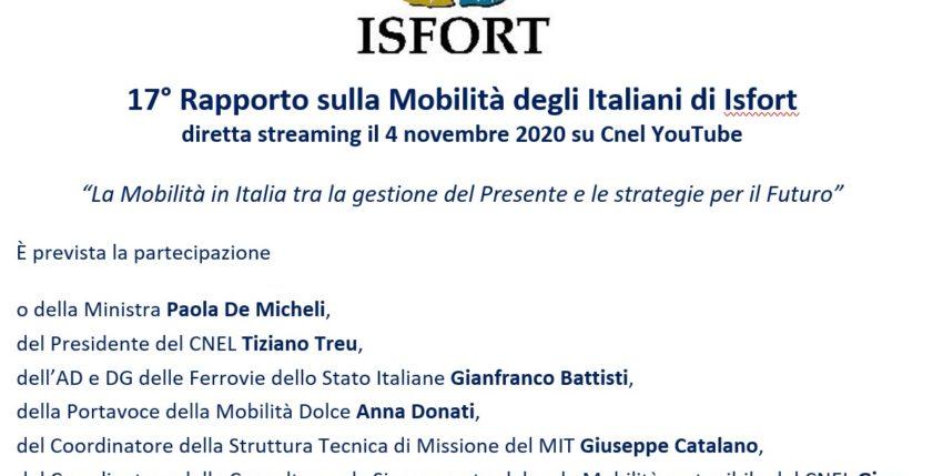 17° Rapporto sulla Mobilità degli italiani di Isfort